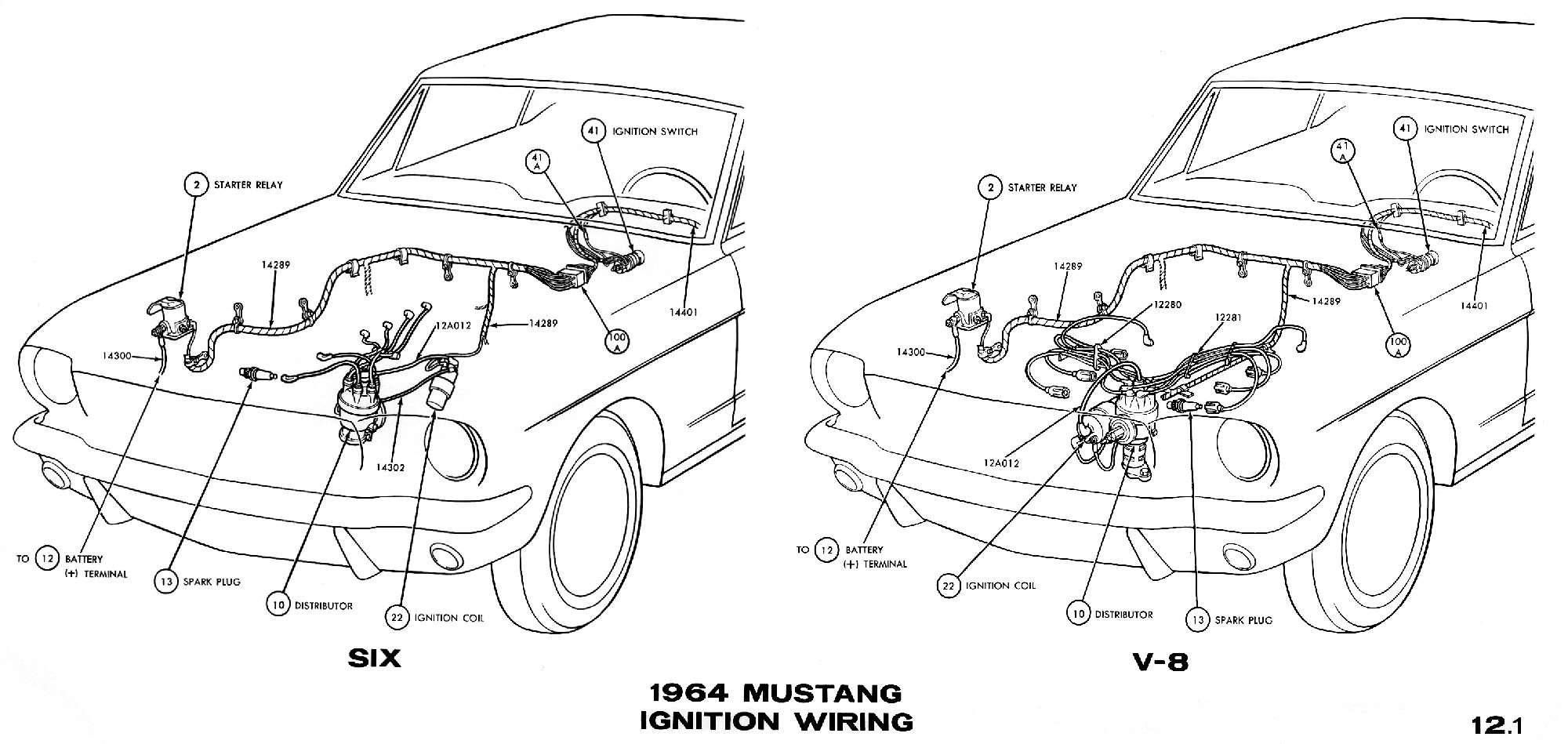 mustang wiring diagrams average joe restoration sm1964c 1964 mustang ignition wiring pictorial