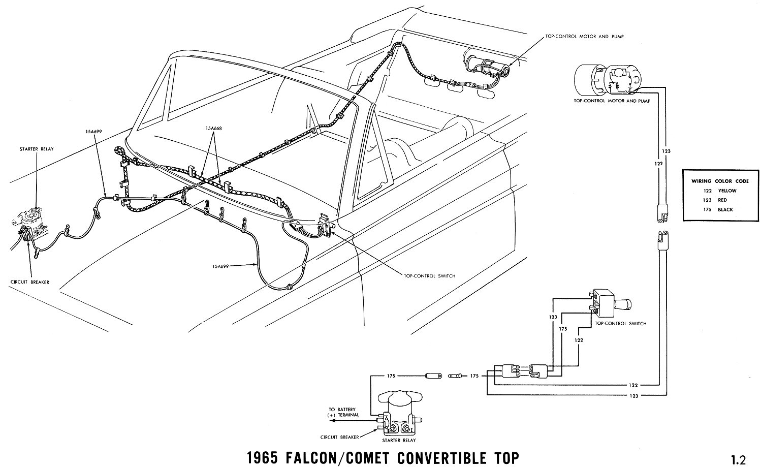 1965k Radio Wiring Diagram Ford Fairlane on thunderbird starter, mustang turn signal, turn signal switch, falcon turn signal switch, fairlane convertible, f100 turn signal, mustang headlight,
