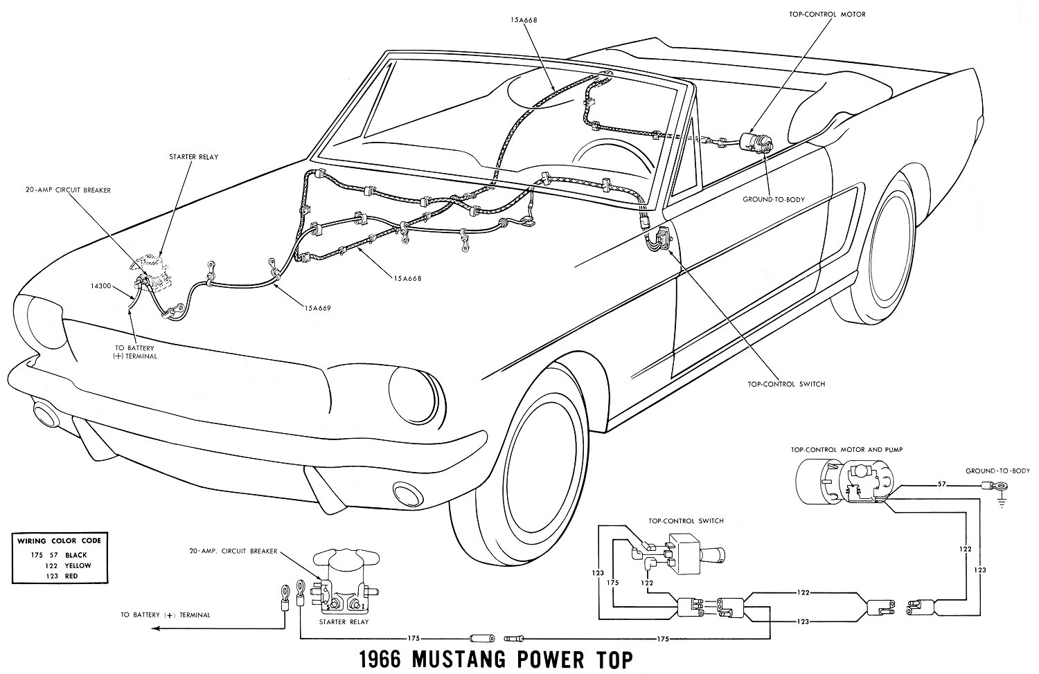 66pwrtop 1966 mustang wiring diagrams average joe restoration 66 mustang alternator wiring diagram at couponss.co