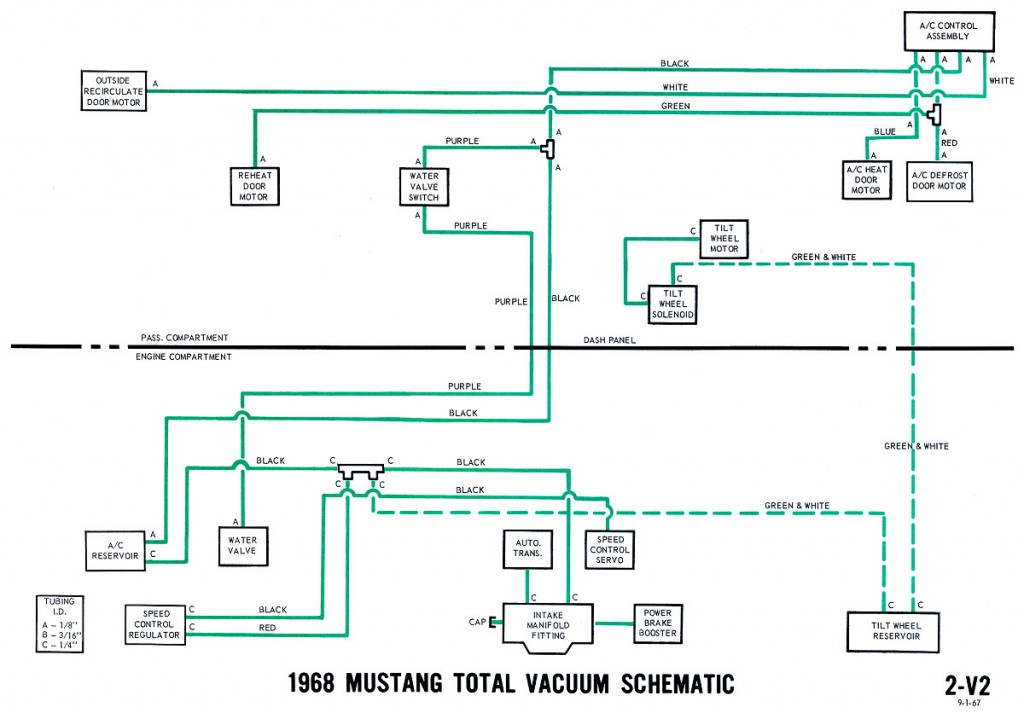 1968 mustang wiring diagrams and vacuum schematics average joe Ford Mustang Diagram 1968 mustang vacuum diagram schematic