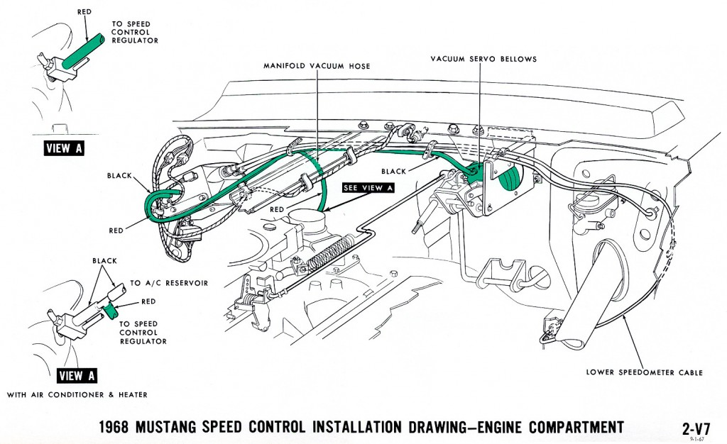 1968 Mustang Wiring Diagram Vacuum Schematics on steering control wiring diagrams