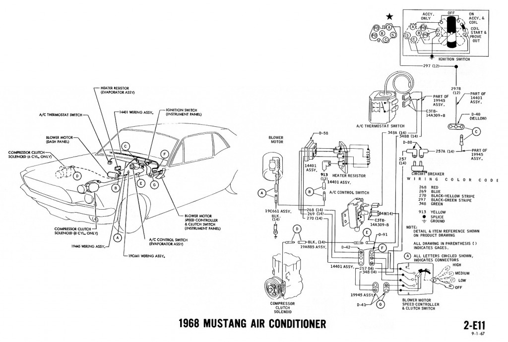 1968 mustang wiring diagram air conditioning 1968 mustang wiring diagrams and vacuum schematics average joe 1968 mustang ignition wiring diagram at n-0.co