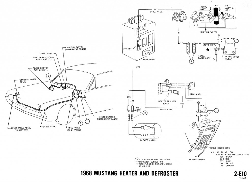 mustang wiring diagram 1968