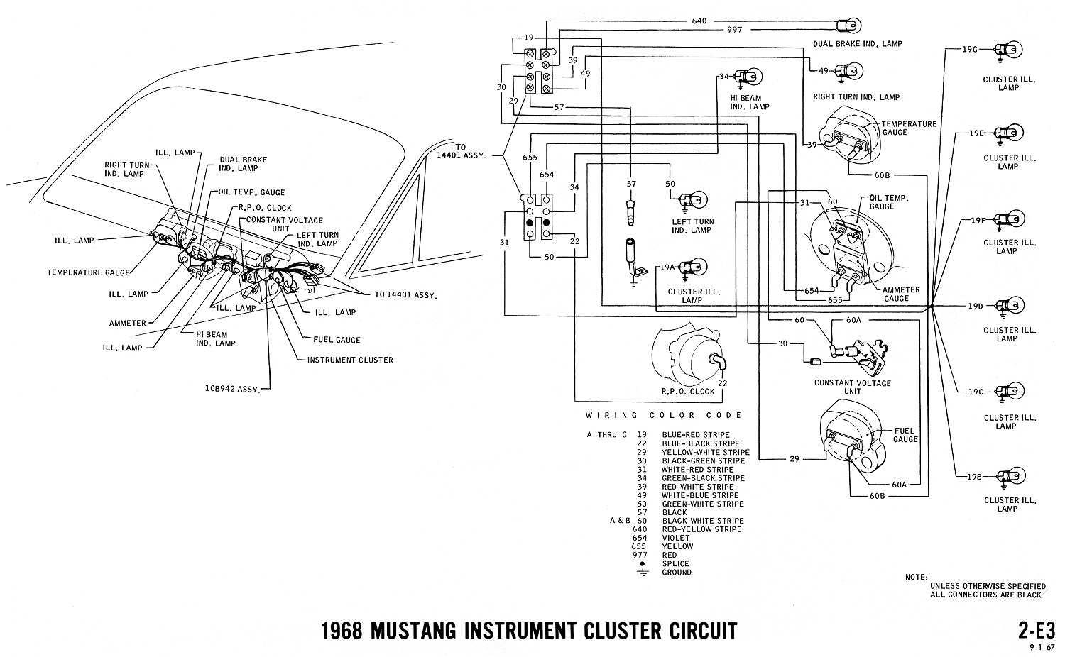 1968 mustang wiring diagrams and vacuum schematics 1969 Mustang Fuse Box Diagram 1970 Mustang Fuse Box Diagram