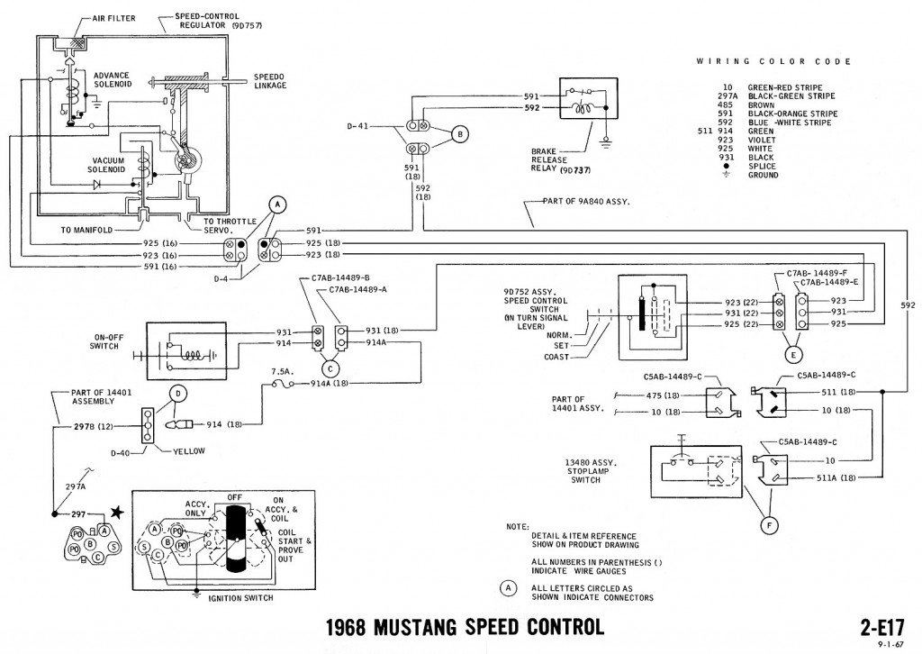 1968 mustang wiring diagram speed control 1968 mustang wiring diagrams and vacuum schematics average joe 1969 mustang voltage regulator wiring diagram at mifinder.co