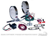 1964-66 Mustang Deluxe Remote Mirror Kits with LED indicators C5ZZ-17696-LED