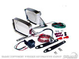 1967-68 Mustang Deluxe Remote Mirror Kits with LED indicators C7AZ-17696-LED
