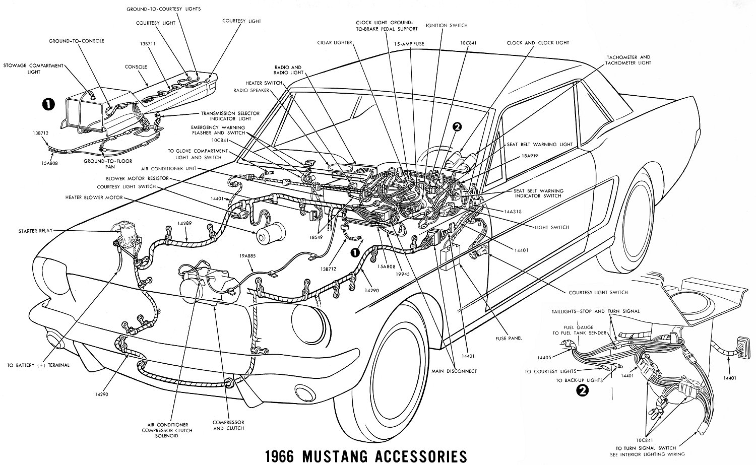1966 Mustang Wiring Diagrams Average Joe Restoration Emergency Switch Diagram Sm66acc Accessories Schematic