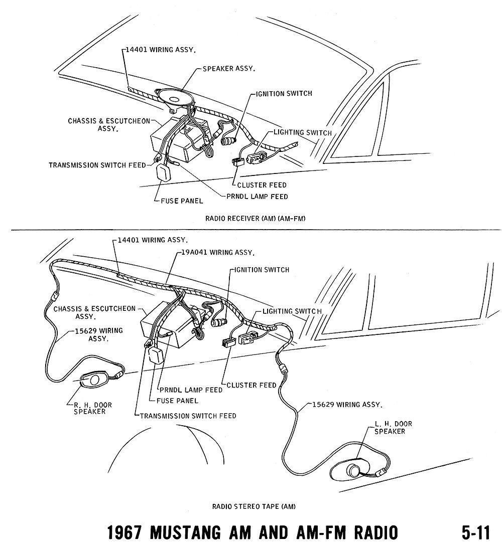 1967 Mustang Wiring And Vacuum Diagrams Average Joe Restoration Cougar Diagram Pictorial Schematic