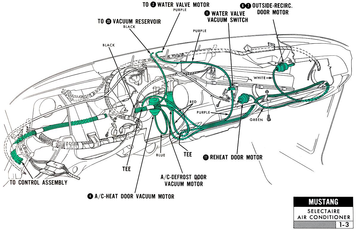 1967 Mustang Wiring And Vacuum Diagrams Average Joe Restoration Mercedes Benz Engine Harness Routing Diagram Underdash