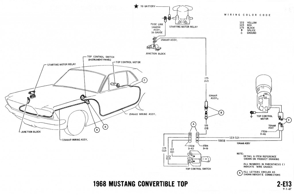 1968 mustang wiring diagrams and vacuum schematics 67 Mustang Engine Compartment 1966 Mustang Engine Compartment